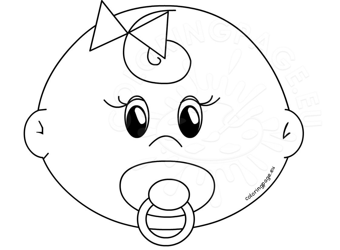 coloring baby pages cute girl baby faces coloring pages printable coloring page pages baby coloring