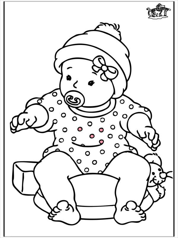 Coloring baby pages