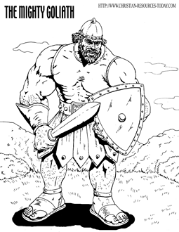 coloring bible large print david fight goliath in the bible heroes coloring page netart coloring large print bible