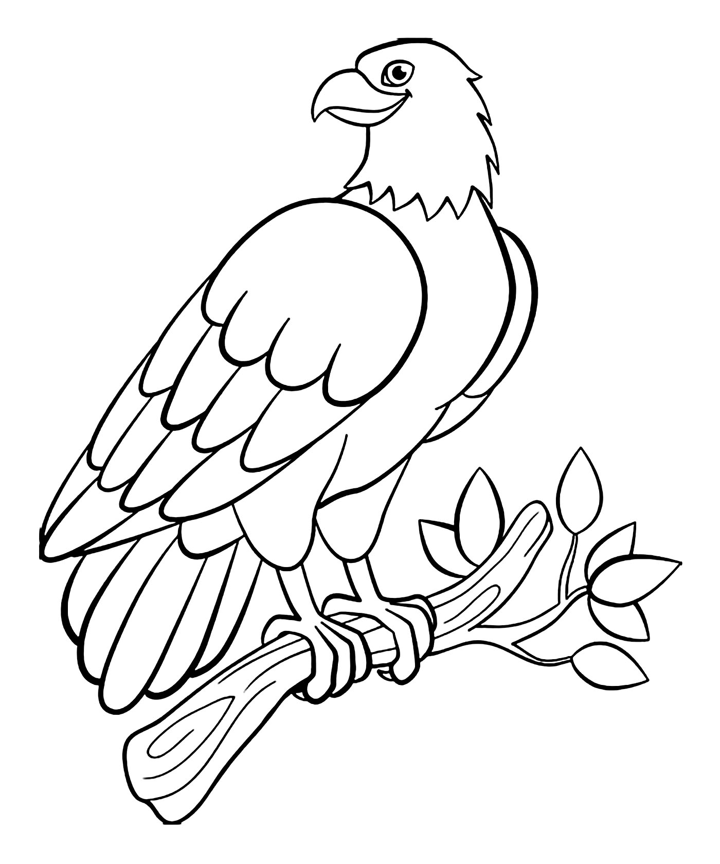 Coloring bird for kids