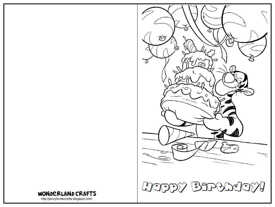 coloring birthday card template 5 best images of printable birthday cards to color birthday card template coloring