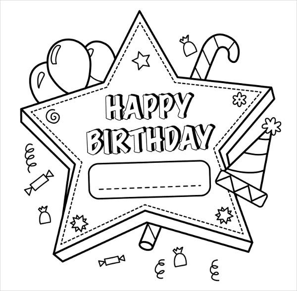 coloring birthday card template coloring birthday folding card coloring pages birthday card coloring template