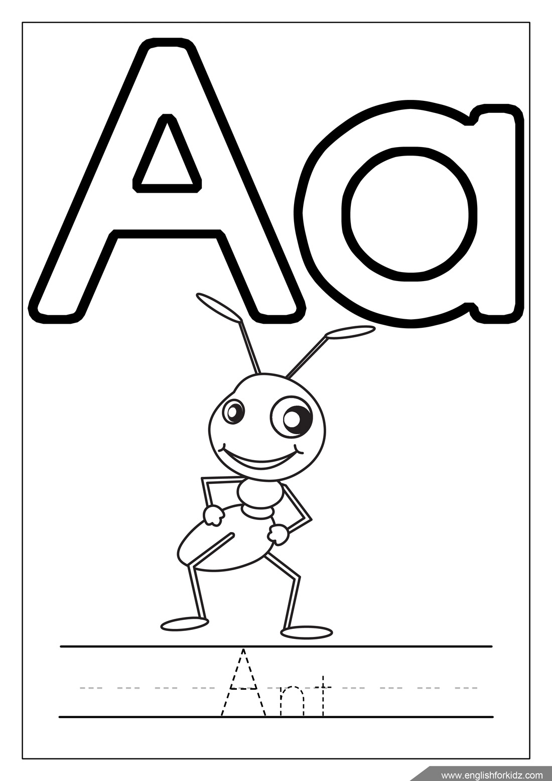 coloring book alphabet english for kids step by step printable alphabet coloring alphabet book coloring