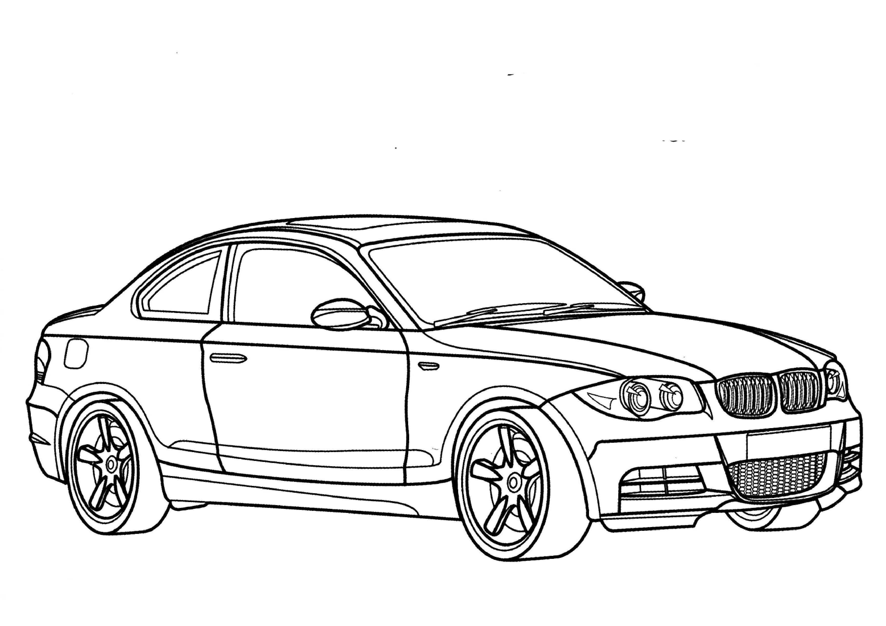 Coloring cars bmw