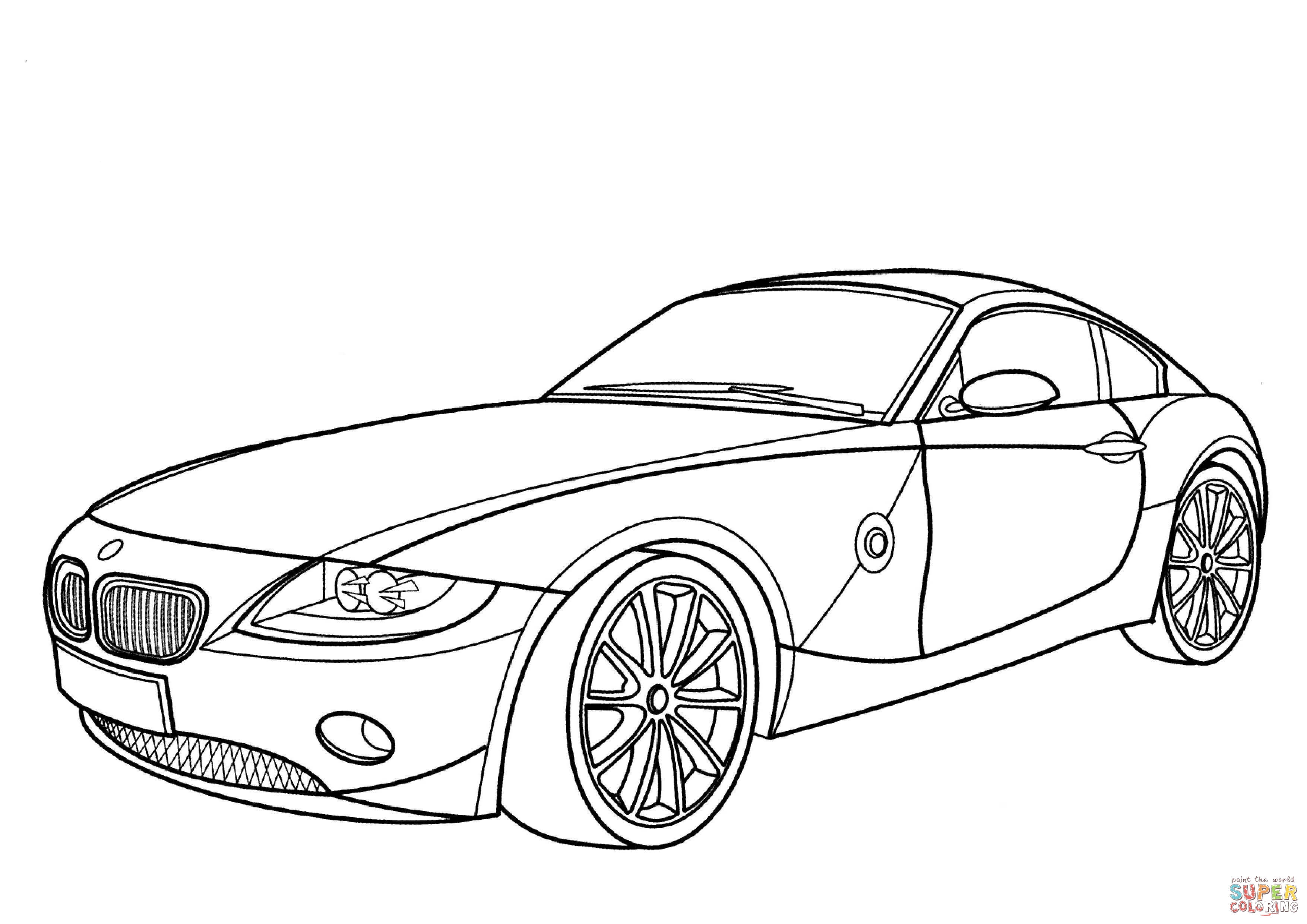coloring cars bmw bmw z4 coupe coloring page free printable coloring pages coloring cars bmw