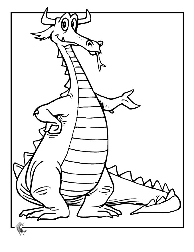 coloring cartoon dragons dragon coloring pages free printables for kids gtgt disney dragons cartoon coloring