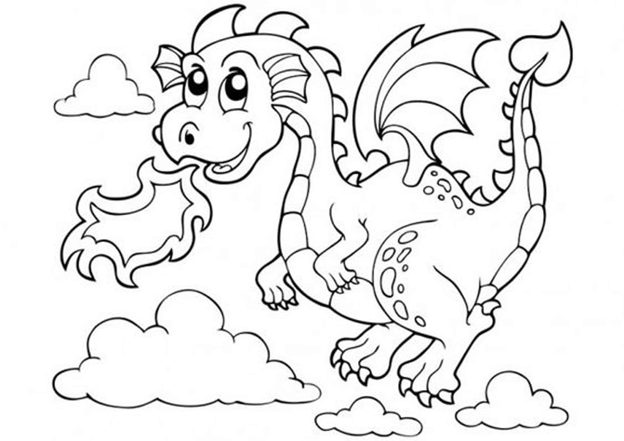 coloring cartoon dragons free easy to print dragon coloring pages tulamama cartoon dragons coloring
