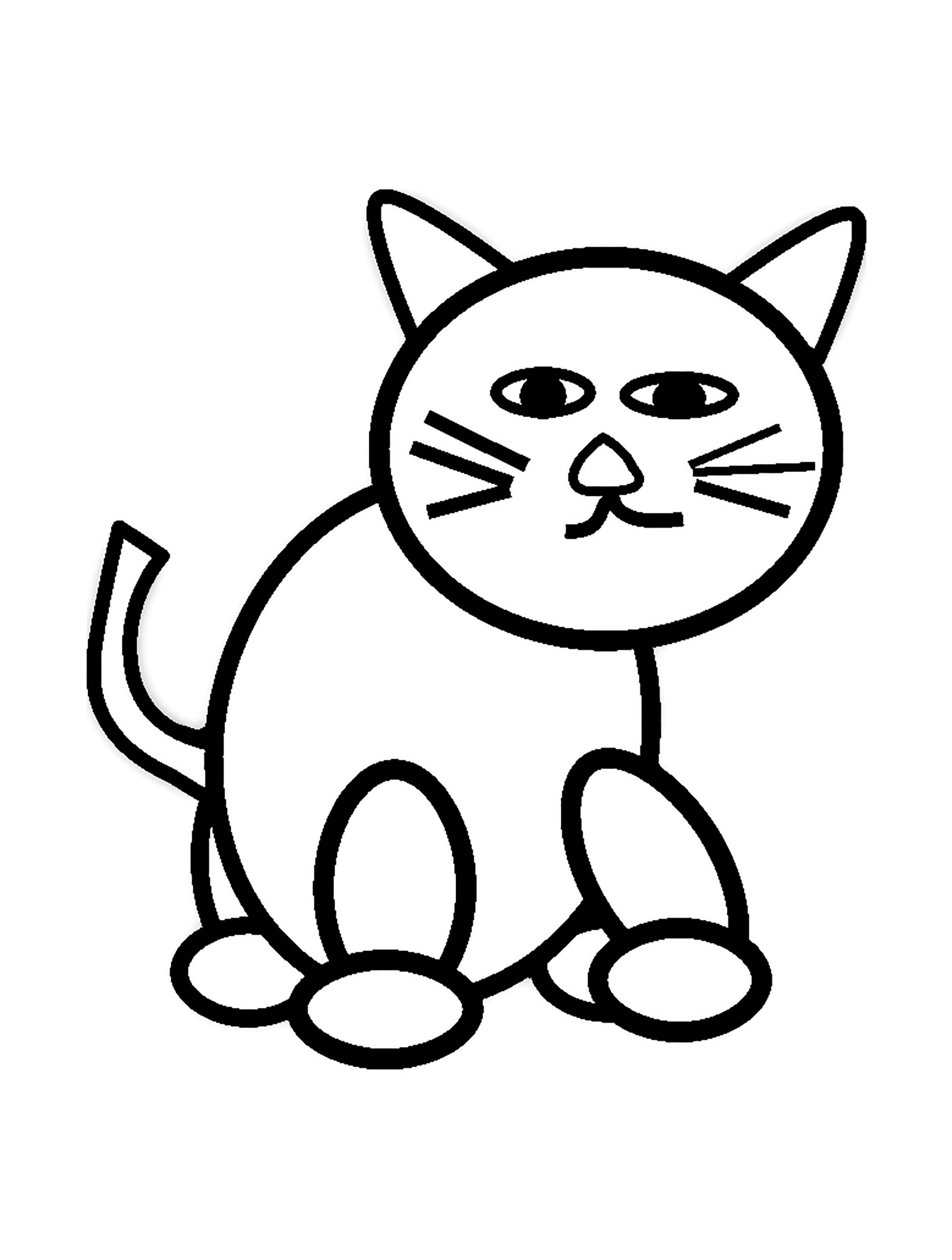 coloring cat pages cat for kids simple drawing cats kids coloring pages pages coloring cat