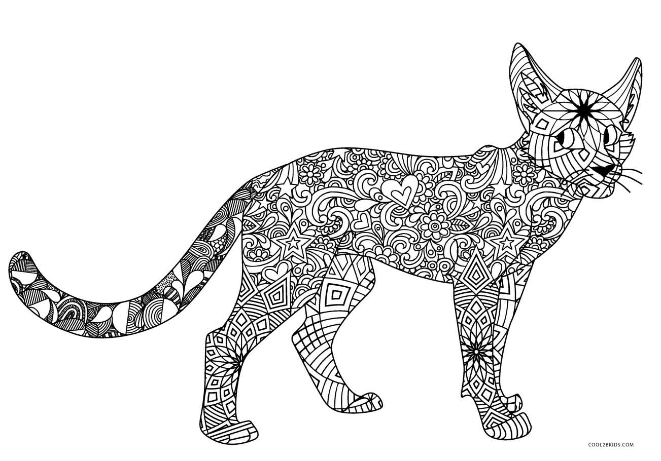 coloring cat pages free printable cat coloring pages for kids coloring pages cat