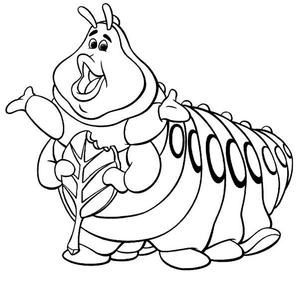 coloring caterpillar heimlich bugs life green caterpillar coloring page kids caterpillar coloring