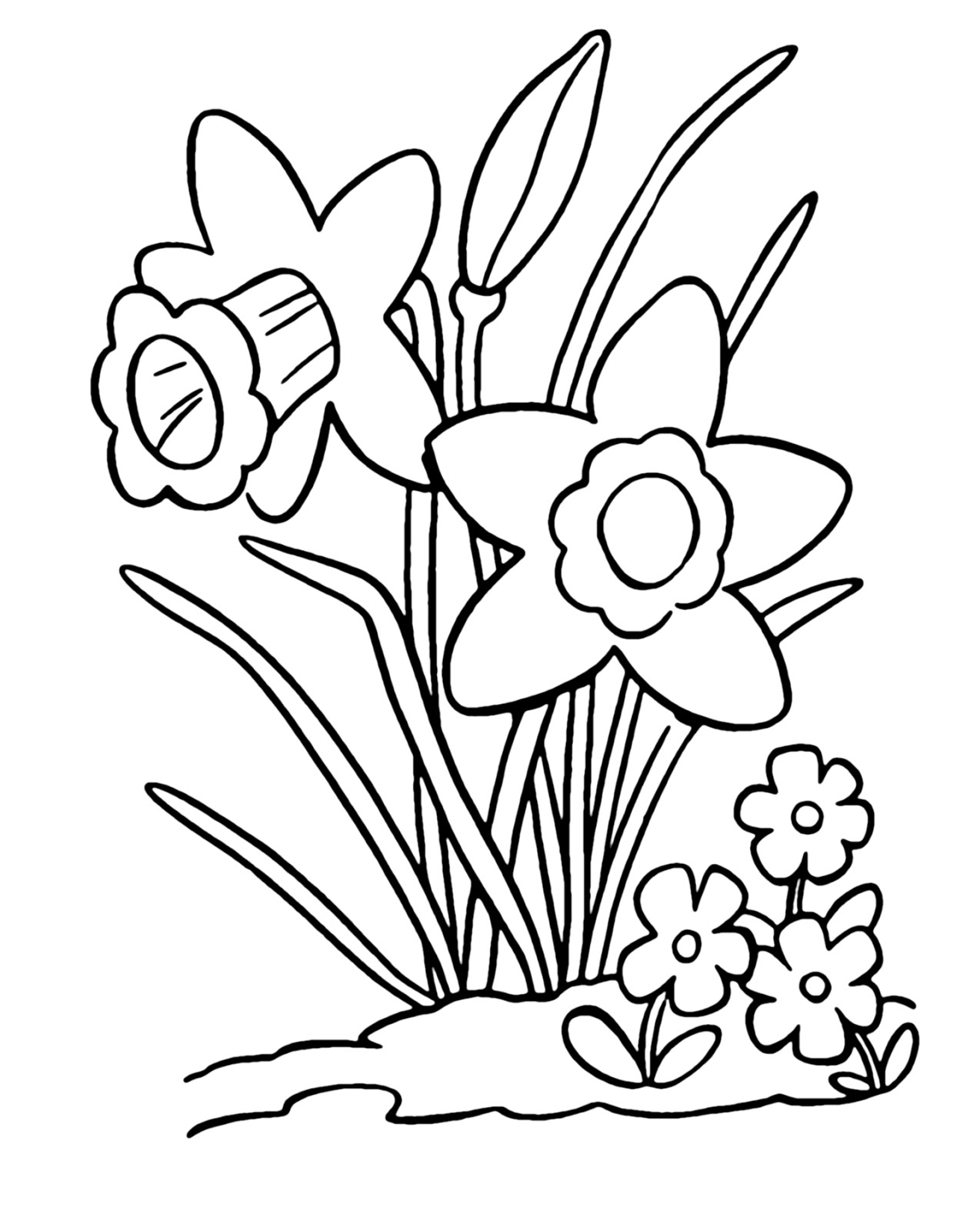 coloring clipart for kids daffodil coloring pages best coloring pages for kids clipart kids coloring for