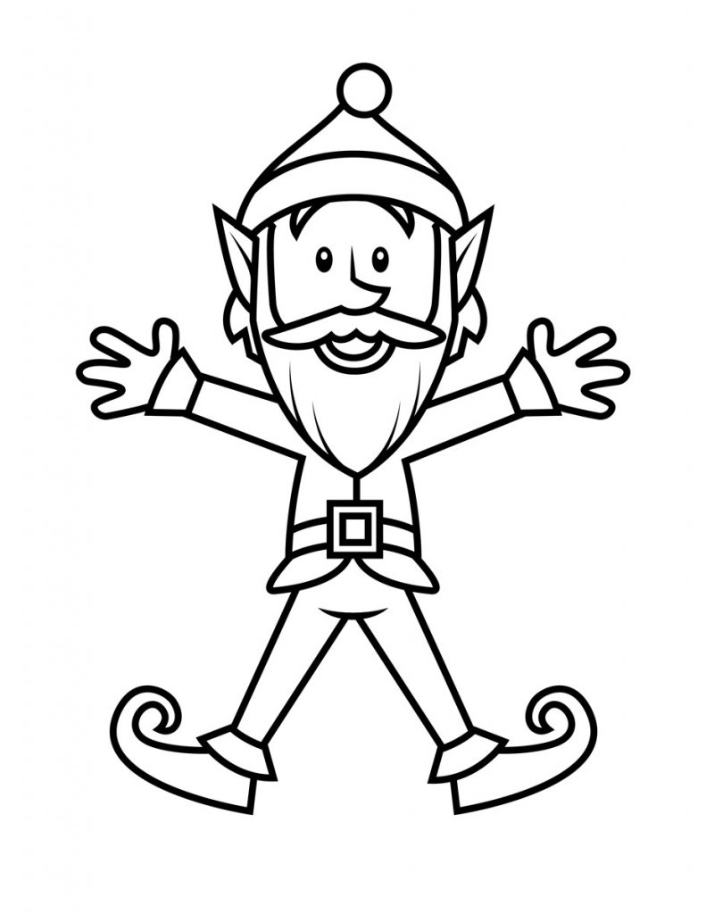 coloring clipart for kids free printable elf coloring pages for kids coloring clipart for kids