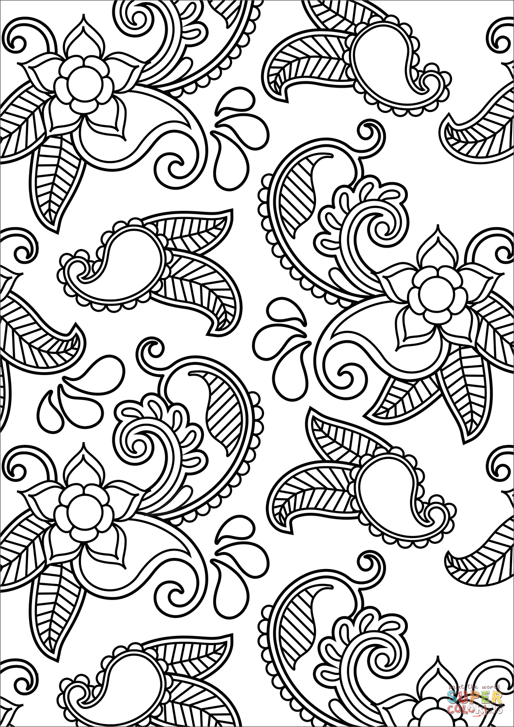 coloring designs free paisley pattern coloring page free printable coloring pages coloring free designs