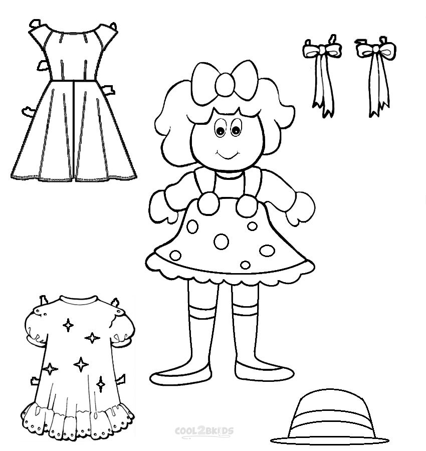 coloring doll print doll coloring pages getcoloringpagescom coloring doll print