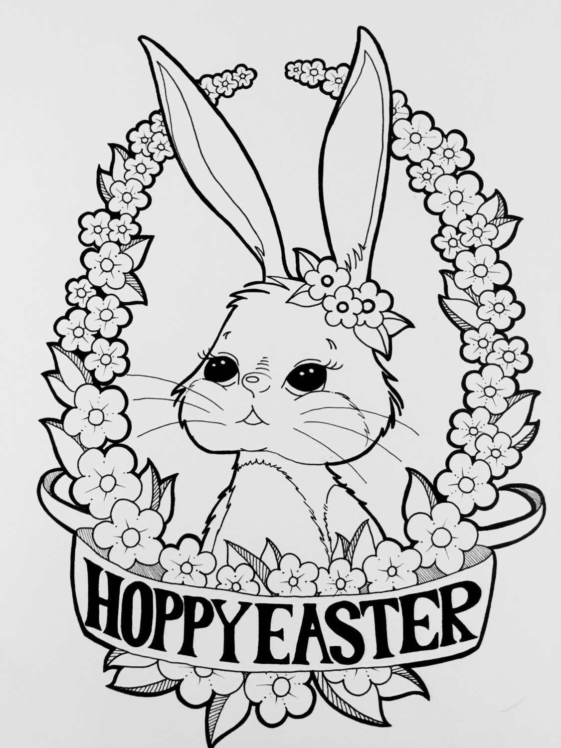 coloring easter bunnies digital coloring page happy easter bunny coloring page coloring bunnies easter