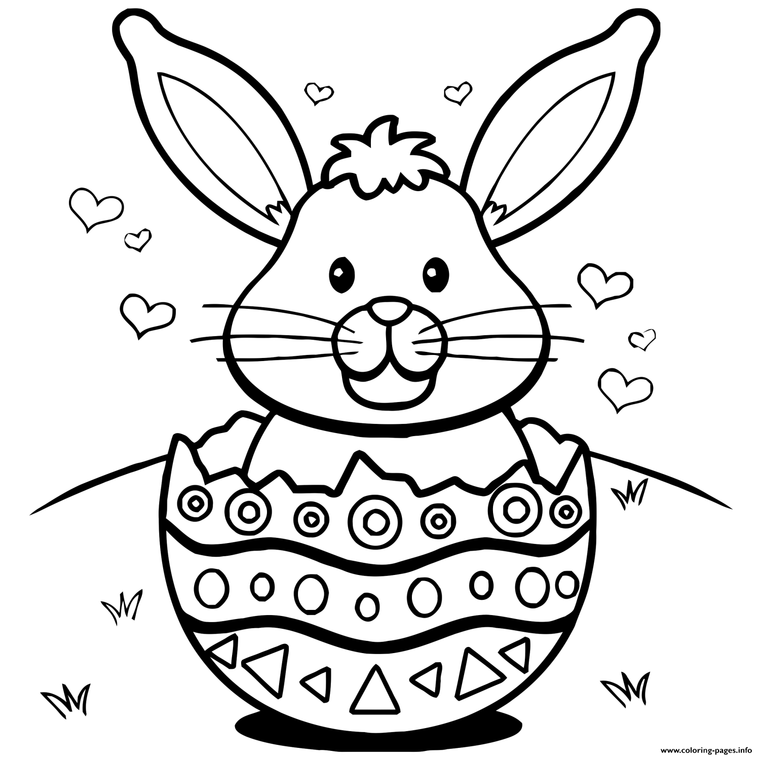 coloring easter bunnies easter bunny with eggs coloring page at getdrawings free coloring easter bunnies