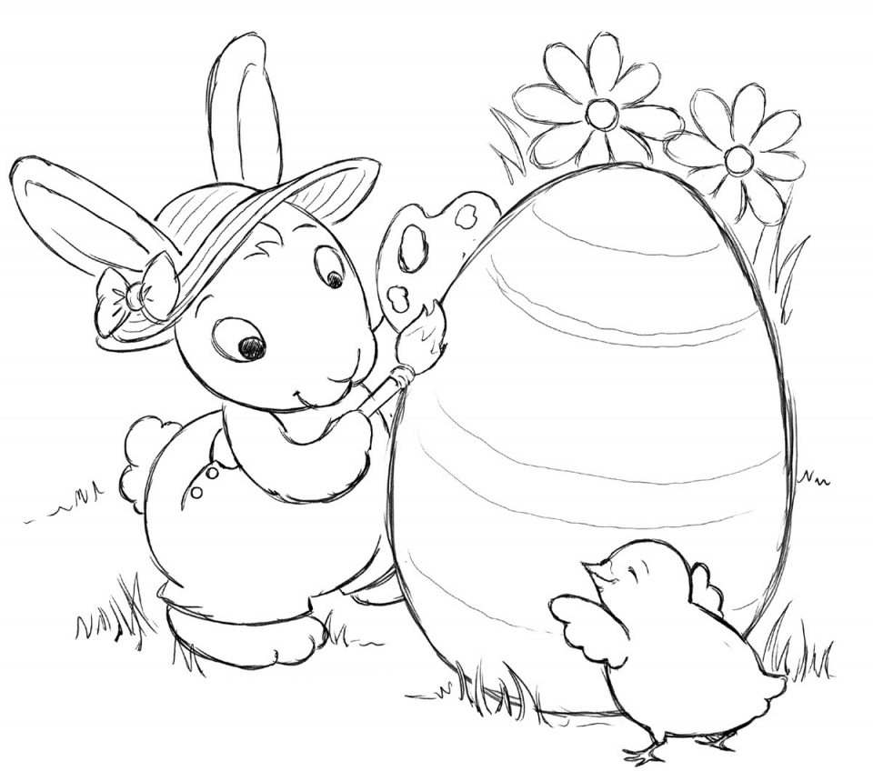 coloring easter bunnies easter coloring page for kids images to color easter bunnies coloring