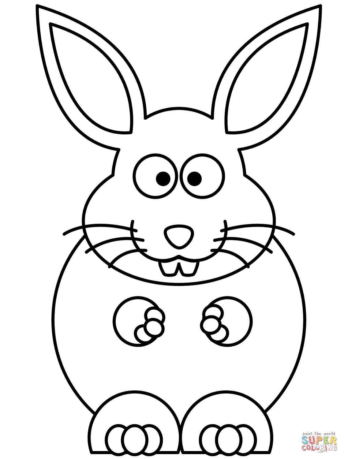 coloring easter bunnies easy easter bunny coloring pages at getcoloringscom coloring bunnies easter