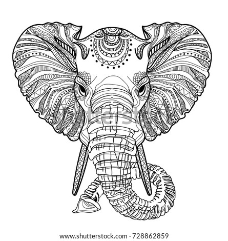 coloring elephant tusks pink elephant trunk stock illustrations 11746 elephant trunk elephant tusks pink coloring