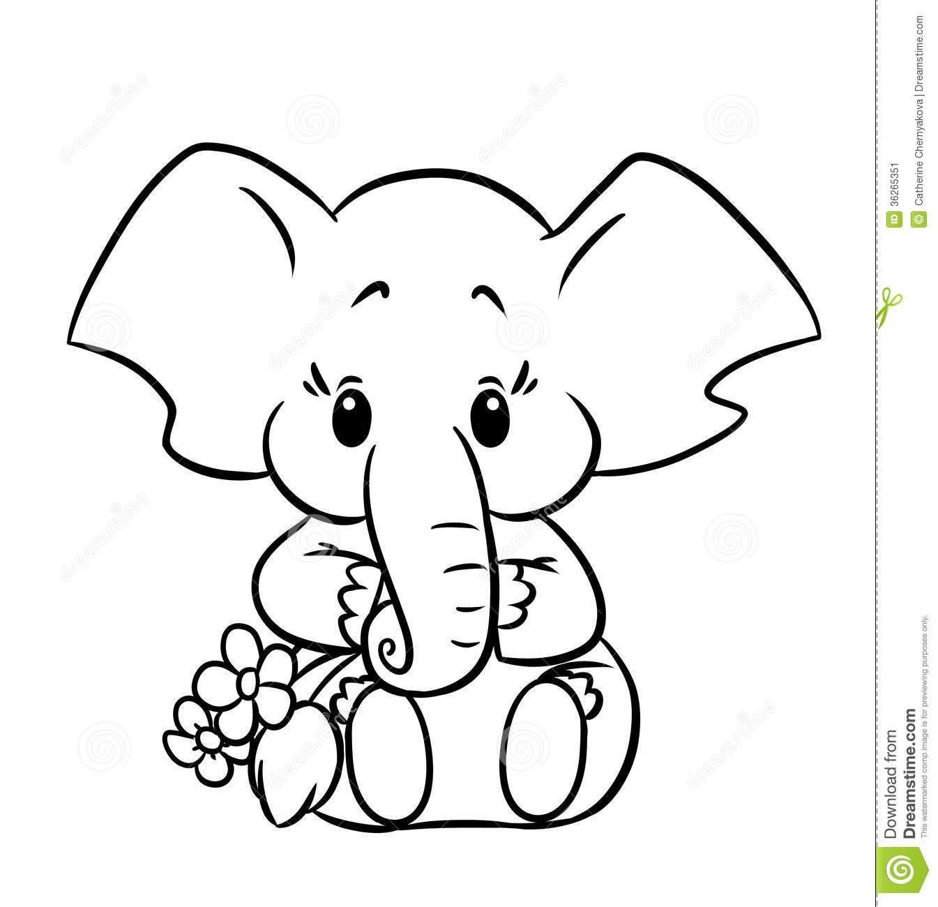 coloring elephant tusks pink elephant with balloons elephant coloring page preschool tusks pink coloring elephant