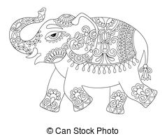 coloring elephant tusks pink tusk illustrations and clipart 4047 tusk royalty free elephant pink tusks coloring