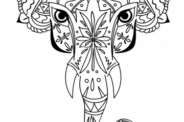coloring elephant tusks pink tusks stock illustrations 2605 tusks stock pink tusks elephant coloring