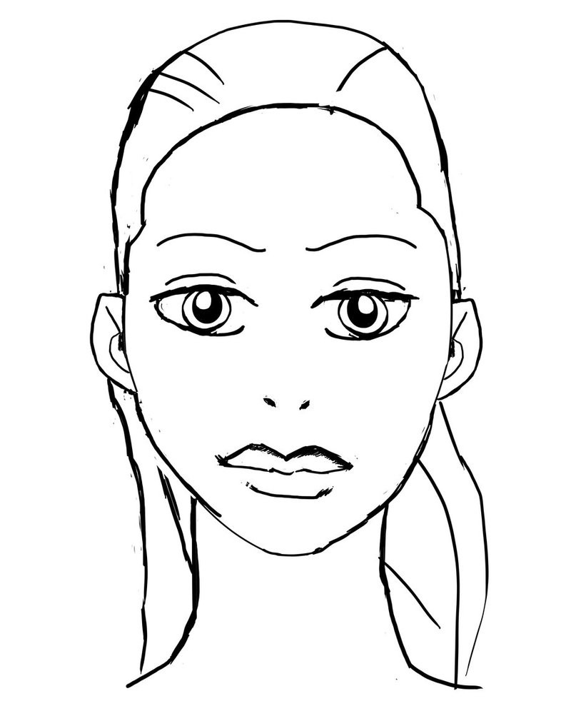 coloring faces makeup face coloring pages at getcoloringscom free faces coloring