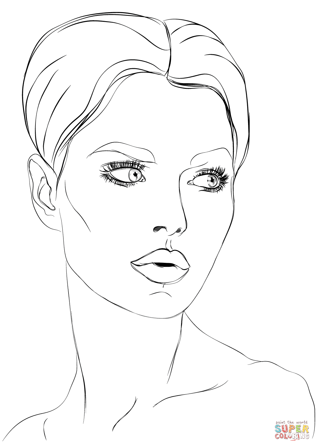 coloring faces woman39s face coloring page free printable coloring pages coloring faces