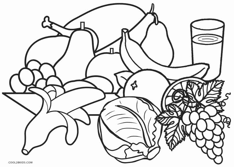 coloring food pages easy and simple food coloring pages for kids bubakidscom coloring food pages