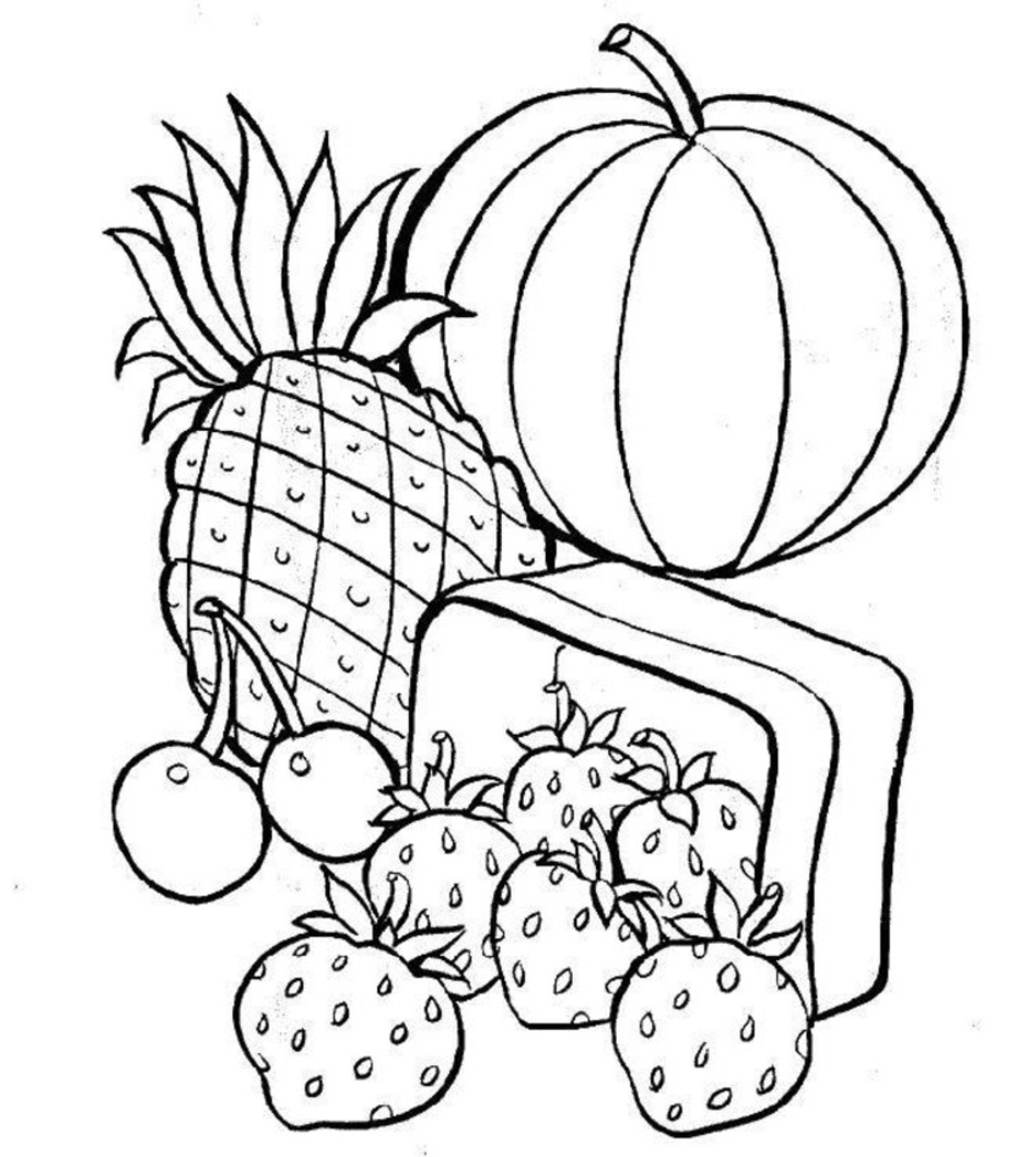 Coloring food pages