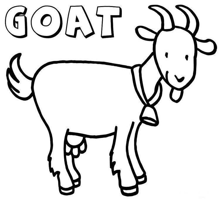 coloring goat free printable goat coloring pages for kids coloring goat