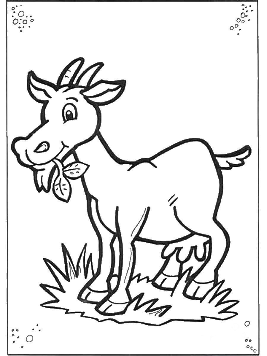 coloring goat goat coloring page super simple coloring goat