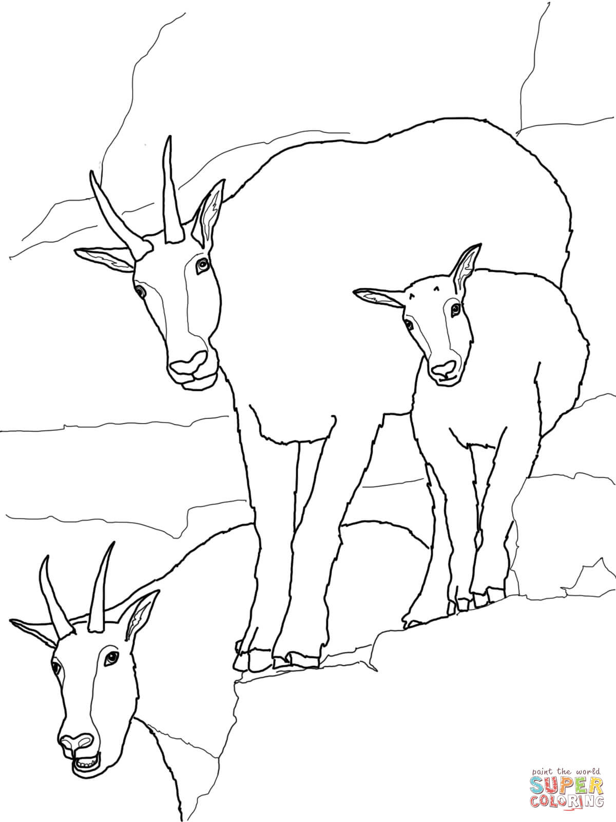 coloring goat goat coloring pages ideas whitesbelfast goat coloring