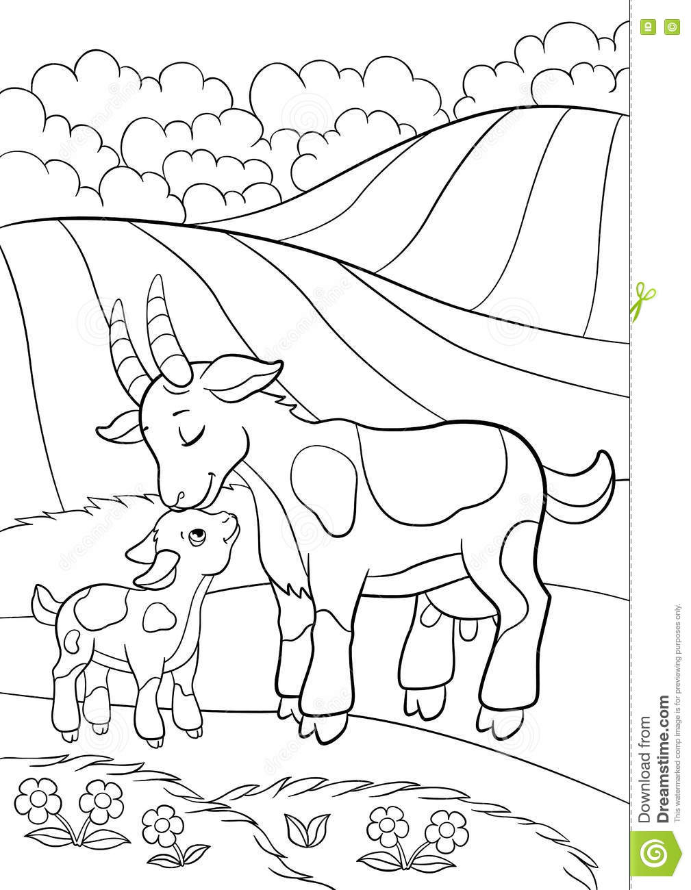 coloring goat hungry goat eating grass coloring pages color luna coloring goat