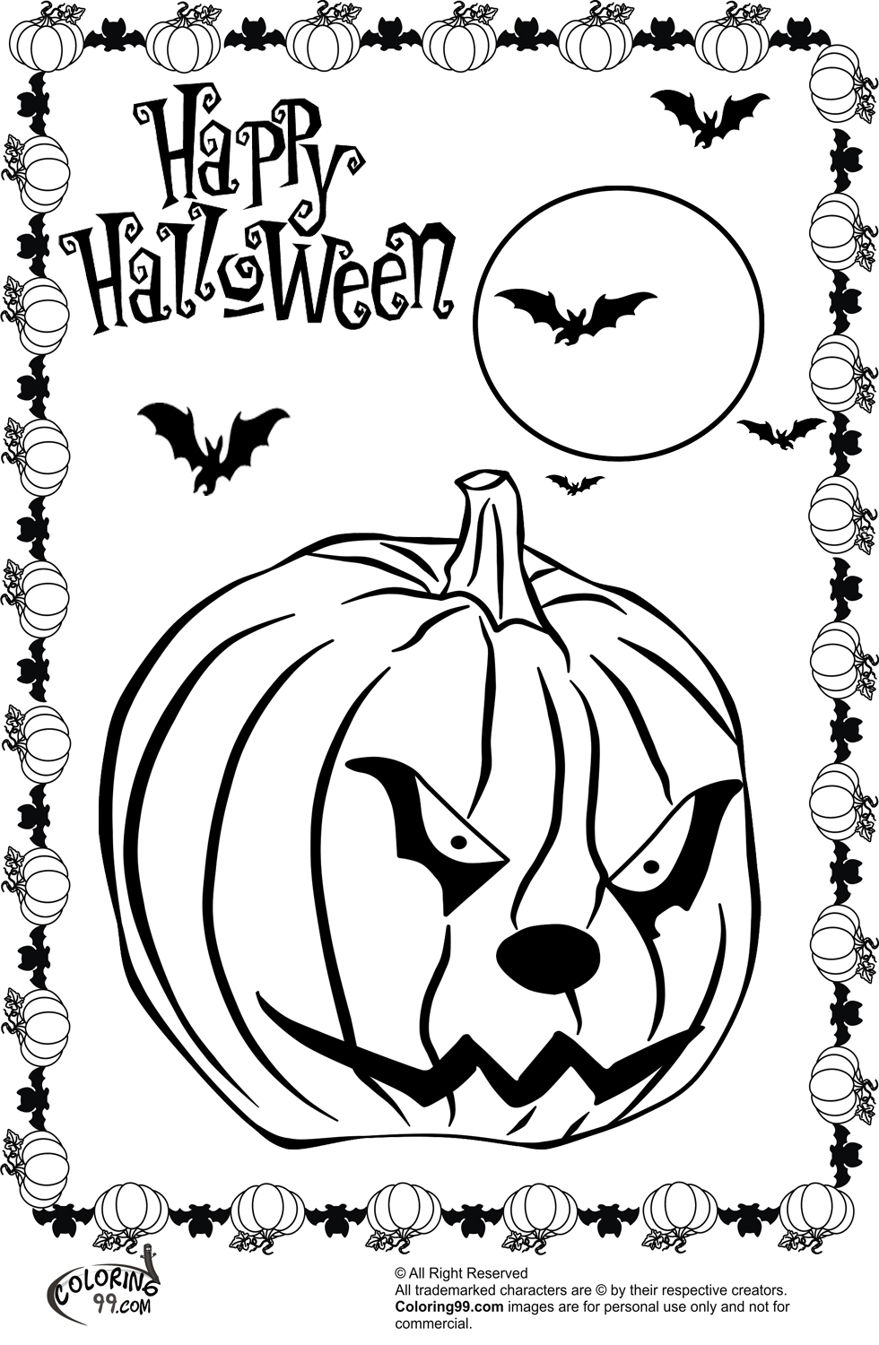 coloring halloween scary halloween coloring pages free large images coloring halloween