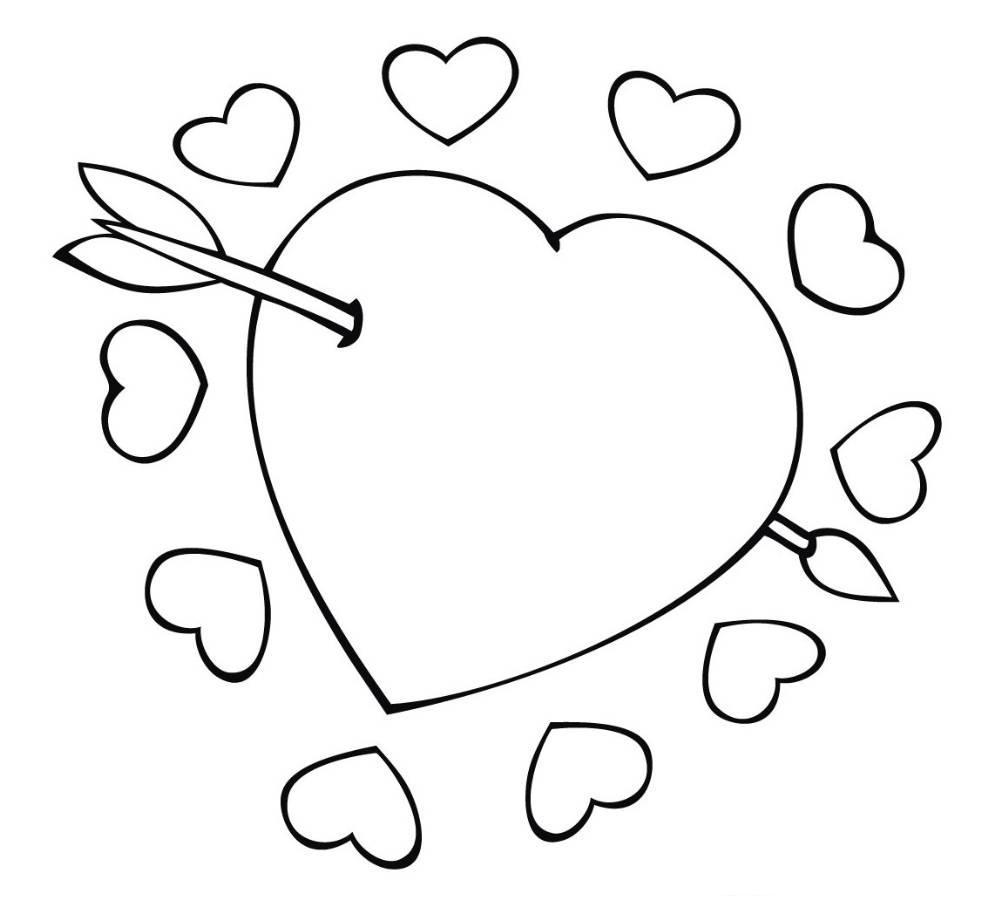 coloring heart for kids big heart coloring pages at getcoloringscom free kids for heart coloring