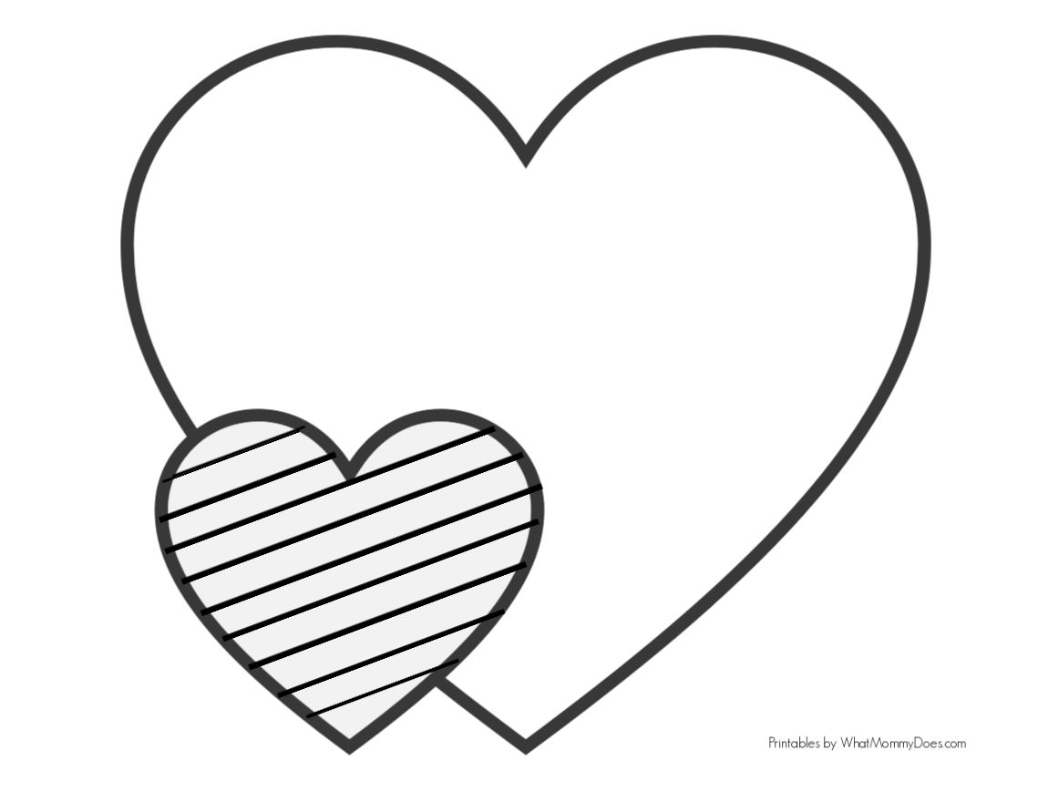 coloring heart for kids easy heart coloring pages for kids stripe patterns kids coloring heart for