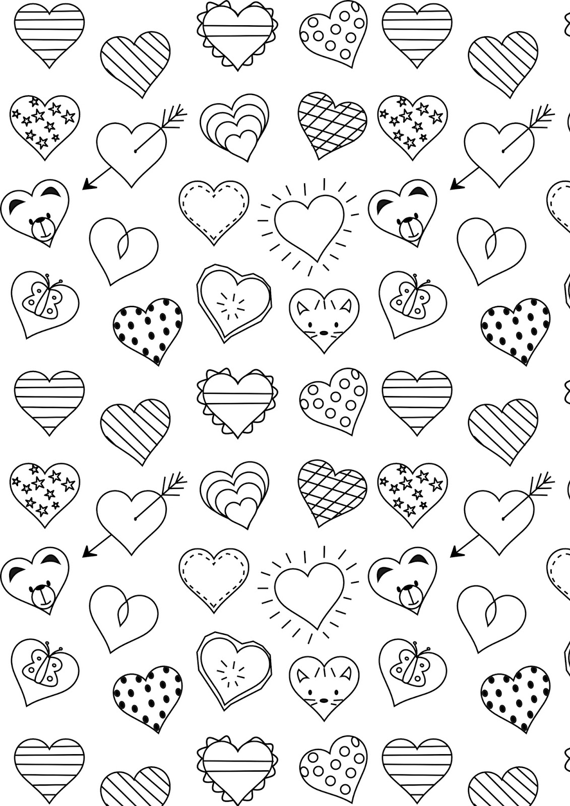 coloring heart for kids free printable heart coloring page ausdruckbare kids for coloring heart