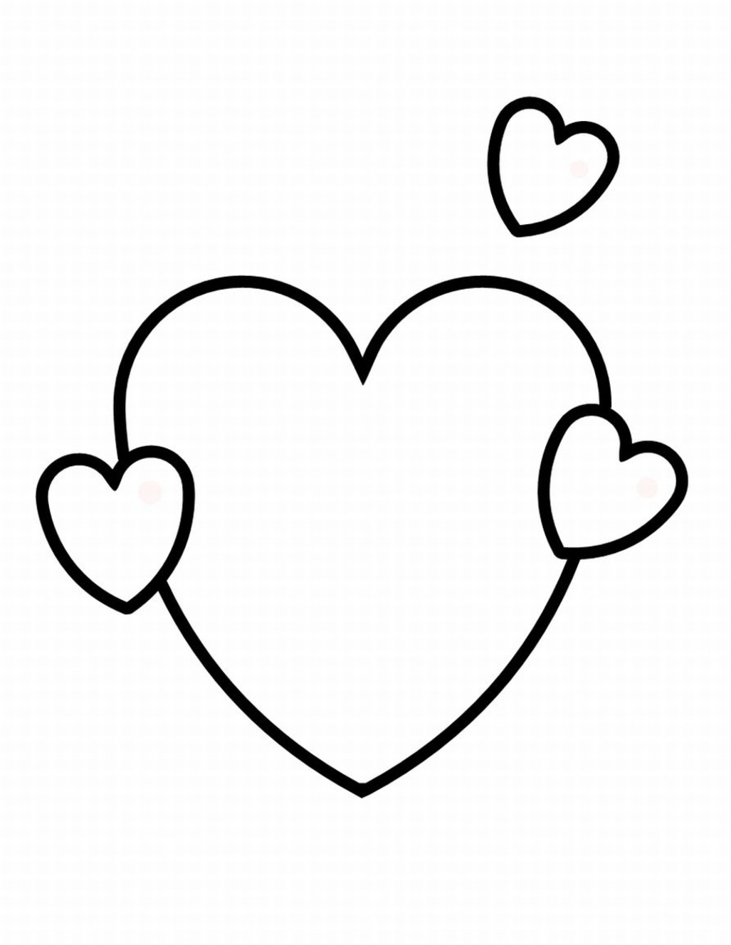coloring heart for kids free printable heart coloring pages for kids coloring for kids heart