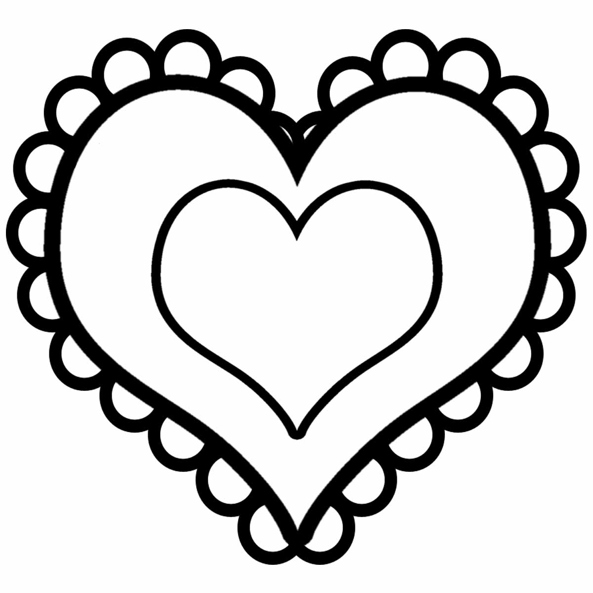 Coloring heart for kids