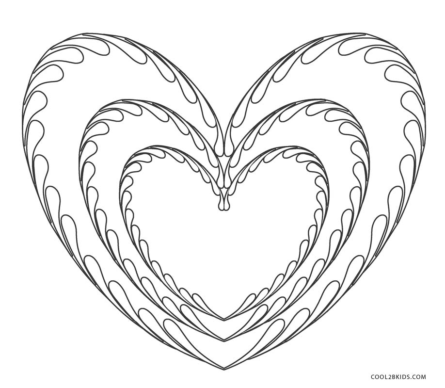 coloring heart for kids free printable heart coloring pages for kids cool2bkids for coloring kids heart