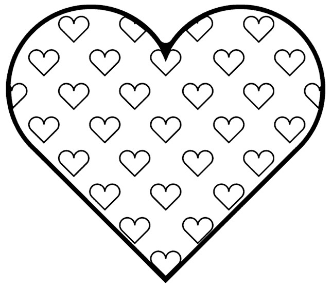 coloring heart for kids free printable heart coloring pages for kids kids heart for coloring