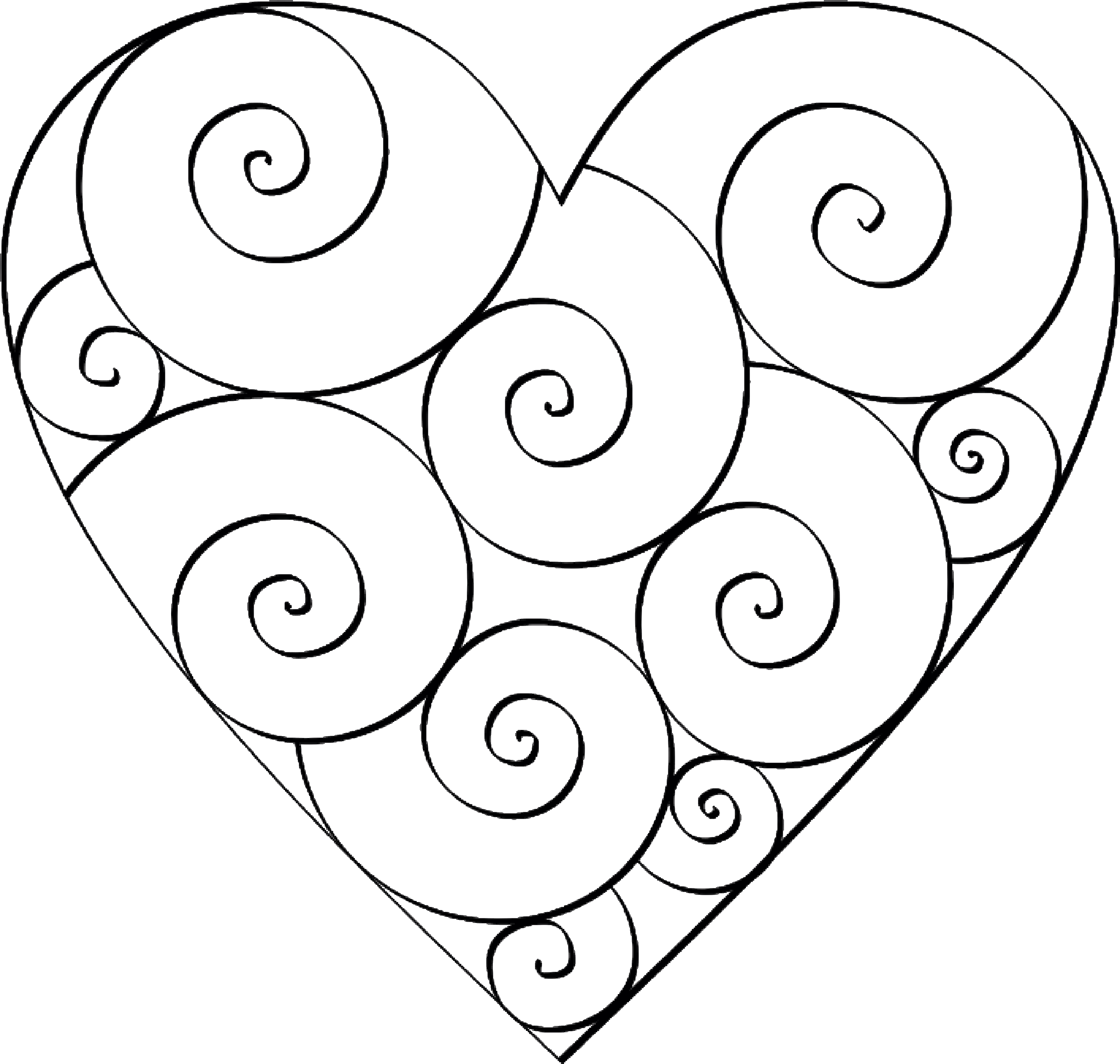 coloring heart for kids free printable heart templates diy 100 ideas for kids coloring heart