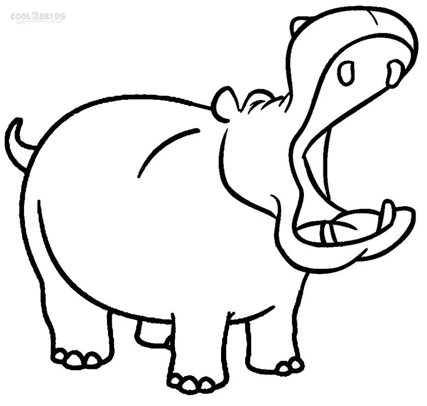 coloring hippo clipart cartoon hippo drawing at getdrawings free download clipart coloring hippo