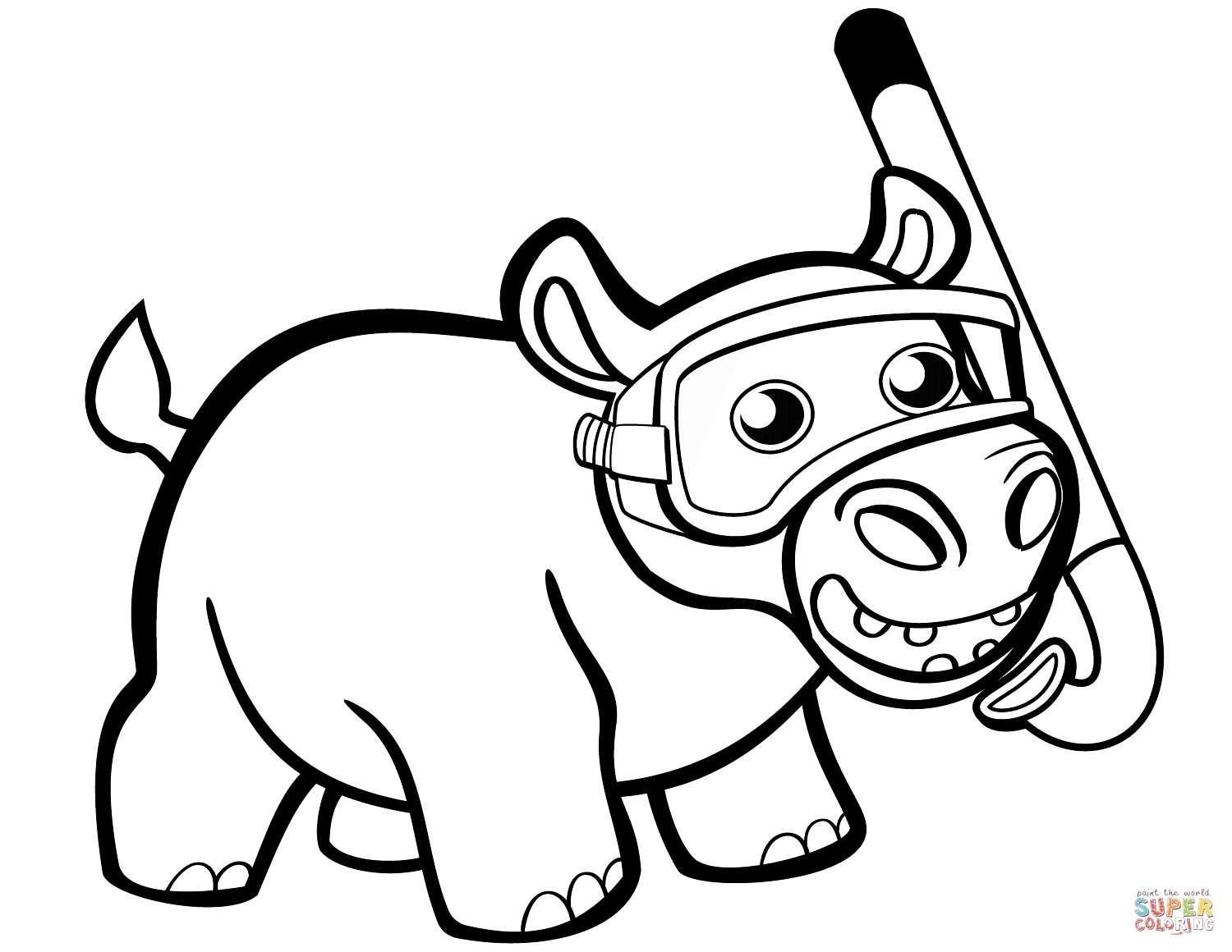 coloring hippo clipart cartoon hippo drawing at getdrawings free download hippo coloring clipart