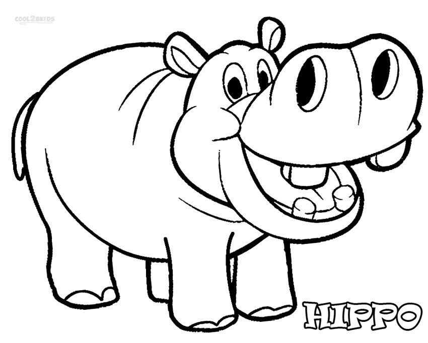 coloring hippo clipart cute hippo drawing free download on clipartmag coloring clipart hippo