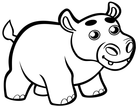 coloring hippo clipart free hippo coloring pages coloring clipart hippo
