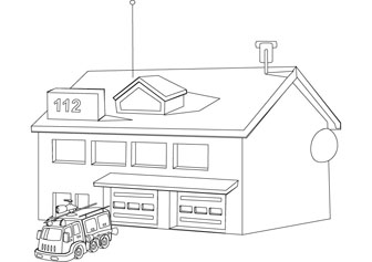 coloring house on fire drawing black and white fire house clipart 20 free cliparts house coloring on fire drawing