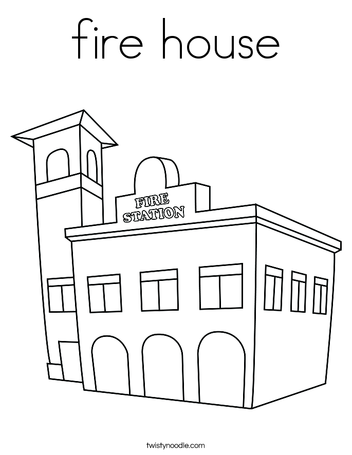 coloring house on fire drawing fireman on the way to house on fire coloring page kids fire house on coloring drawing