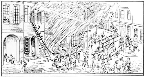coloring house on fire drawing popular science monthlyvolume 47august 1895the fire drawing house on coloring